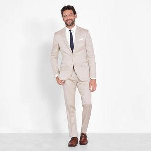 4 piece mens suit tan